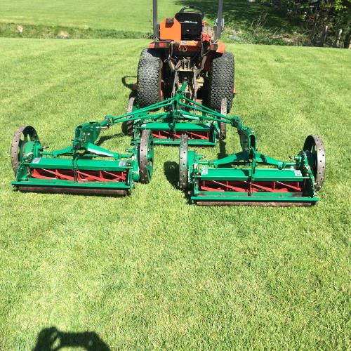 Ransomes Sportcutter Trailed Gang Mowers Bertie Green