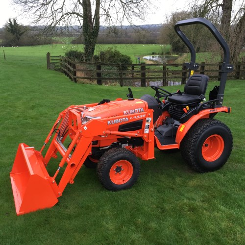 Small Tractors With Loaders : Kubota b hst compact tractor with loader bertie green