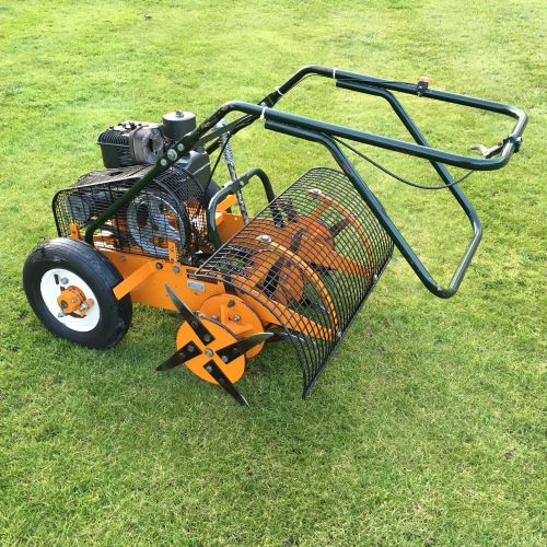 Sisis Autoslit Outfield Lawn Aerator Bertie Green