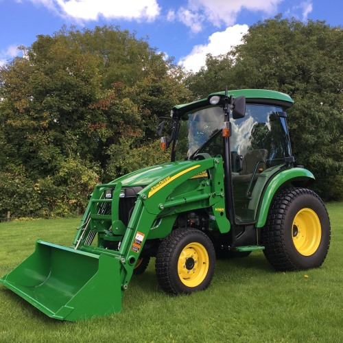 Small Tractors With Loaders : John deere compact tractor with loader bertie green